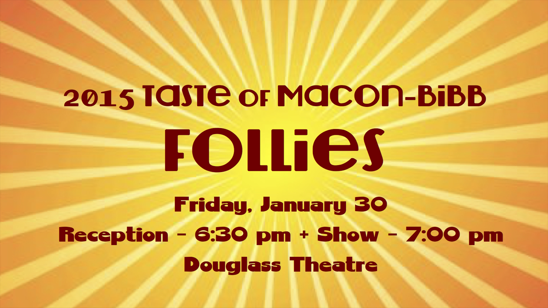 Taste of Macon-Bibb Follies 2015