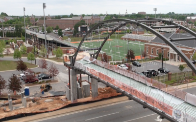 New pedestrian bridge serves as gateway into to Macon-Bibb