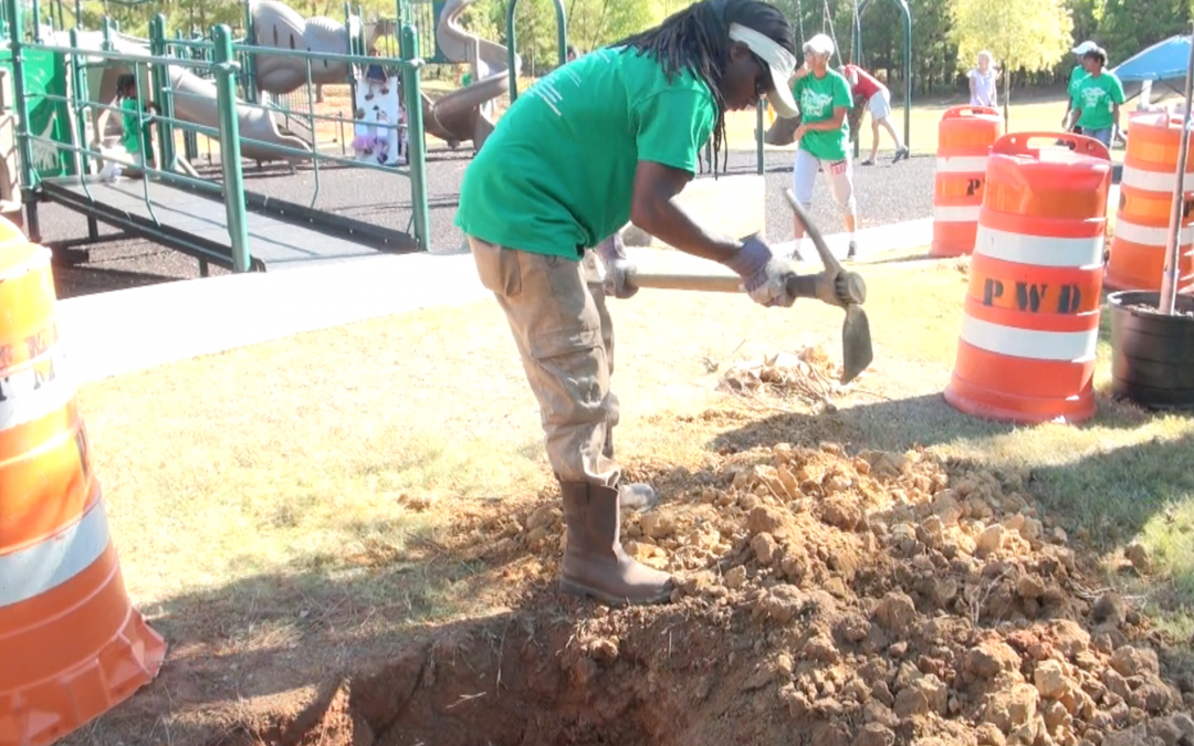 YKK employees team up to clean up Amerson Park