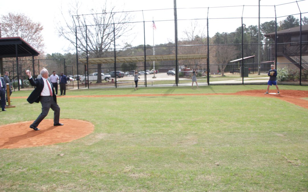 Theron Ussery Park improvements celebrated with ribbon-cutting, first pitch