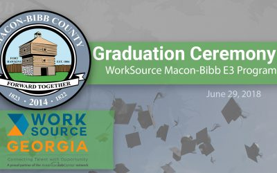 WorkSource Macon-Bibb 2018 E3 Program Graduation