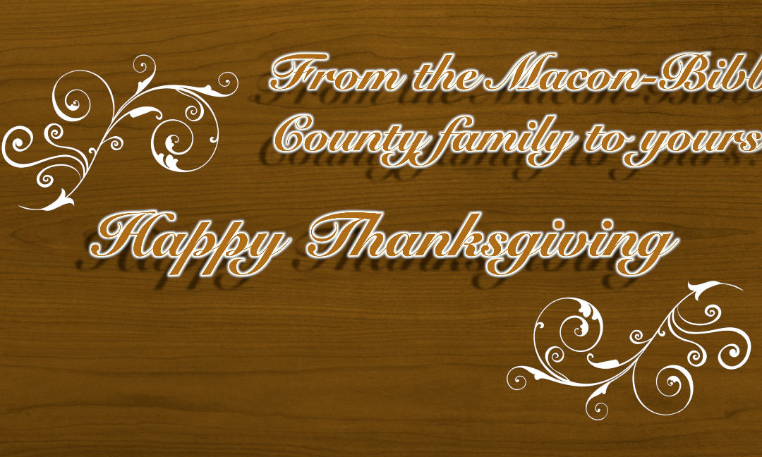 Happy Thanksgiving 2018 from Macon-Bibb County