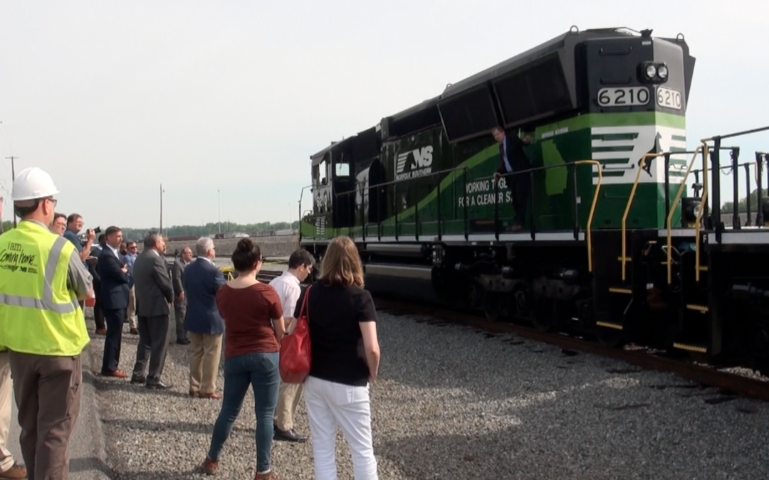 New eco trains come to Macon-Bibb's Brosnan Yard