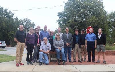 Triangle Park dedicated to Macon Tracks club