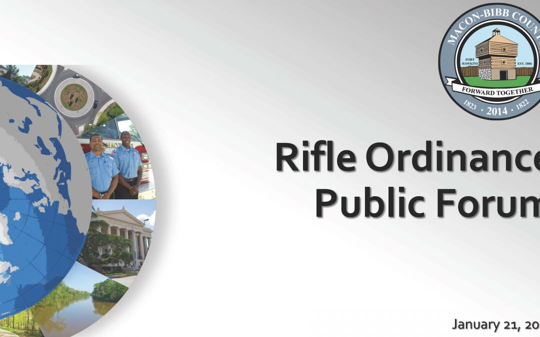 Public Hearing on Proposed Changes to Rifle Ordinance (1 of 2)